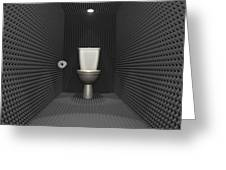Soundproof Toilet Cubicle Greeting Card by Allan Swart