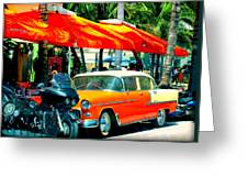 South Beach Flavour Greeting Card by Karen Wiles