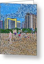 South Beach - Miami Greeting Card by Micah Mullen