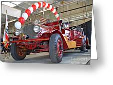 South San Francisco's Restored 1916 Seagrave Fire Engine II Greeting Card by Jim Fitzpatrick