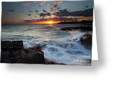 South Shore Waves Greeting Card by Mike  Dawson