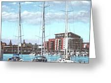 Southampton Ocean Village marina Greeting Card by Martin Davey