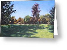 Southampton Palmerston Park Autumn Sun Greeting Card by Martin Davey