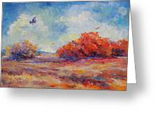 Southwest Landscape Greeting Card by Peggy Wilson