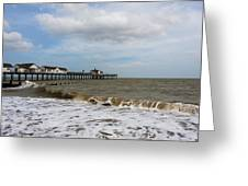 Southwold Pier Greeting Card by Svetlana Sewell
