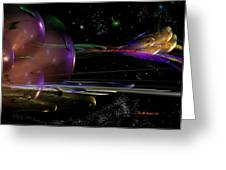 Space Abstraction Greeting Card by David Lane