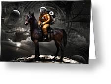 Space tourist Greeting Card by Vitaliy Gladkiy