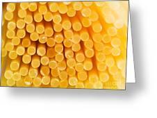 Spaghetti Macro Greeting Card by Mythja  Photography