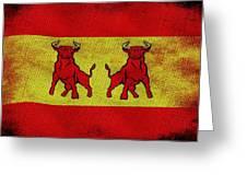 Spanish Bulls Greeting Card by Jared Johnson