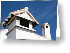 Spanish Rooftops Greeting Card by Anne Gilbert