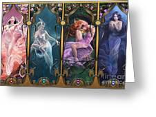 Sparkling Jewels Greeting Card by Drazenka Kimpel