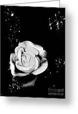 Sparkling Rose Greeting Card by Gayle Price Thomas