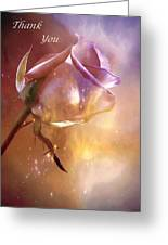 Sparkling Rose Thank You Greeting Card by Anne Macdonald