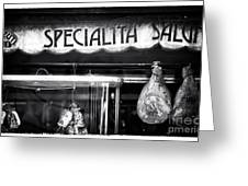 Special Salami Greeting Card by John Rizzuto