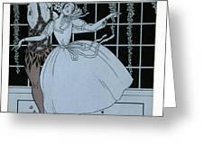 Spectre de la Rose Greeting Card by Georges Barbier