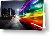 Speeding Bus Blurred Motion Greeting Card by Konstantin Sutyagin