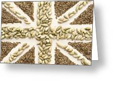 Spice Flag Greeting Card by Anne Gilbert