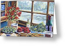 Spice Table By Prankearts Greeting Card by Richard T Pranke
