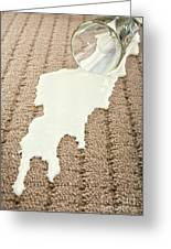 Spilled Milk On Carpet  Greeting Card by Colin and Linda McKie