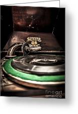 Spin That Record Greeting Card by Darcy Michaelchuk