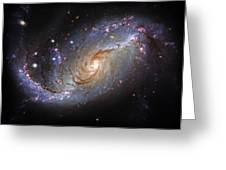 Spiral Galaxy Ngc 1672 Greeting Card by The  Vault - Jennifer Rondinelli Reilly