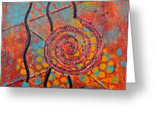Spiral Series - Timber Greeting Card by Moon Stumpp