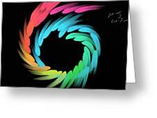 Spiralbow Greeting Card by Michael Jordan
