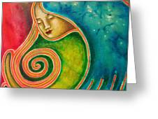 Spiraling Inward Greeting Card by Annette Wagner