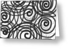 Spirals of Love Greeting Card by Daina White