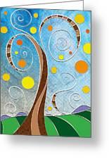 Spiralscape Greeting Card by Shawna Rowe