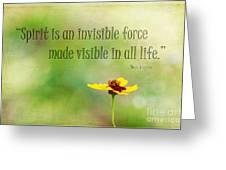 Spirit Greeting Card by Darren Fisher