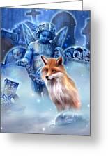 Spirit Of The Fox Greeting Card by Kerri Ann Crau