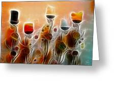 Spiritual Candles Greeting Card by Music of the Heart