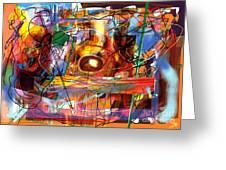 Spiritual Understanding 3 Greeting Card by David Baruch Wolk