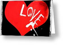 Splashes Of Love Greeting Card by Anahi DeCanio
