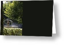 Splashing Water From Fountain Greeting Card by Sami Sarkis