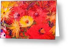 Splashy Floral II Greeting Card by Anne-Elizabeth Whiteway