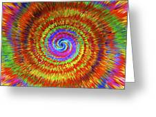 Splattered Lines Greeting Card by Michael Anthony