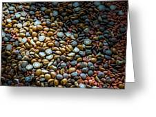 Split Pea Abstract Greeting Card by Bob Orsillo
