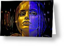 Split Personality Greeting Card by Chuck Staley