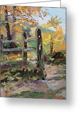 Split Rail Fence Greeting Card by Spencer Meagher