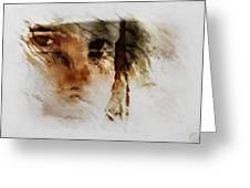 Split Vision Greeting Card by Gun Legler