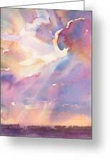 Splits The Silver Lining Greeting Card by Yevgenia Watts