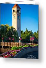 Spokane Clocktower Greeting Card by Inge Johnsson