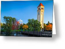 Spokane Fall Colors Greeting Card by Inge Johnsson