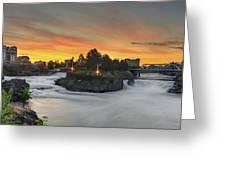 Spokane Sunrise Greeting Card by Michael Gass