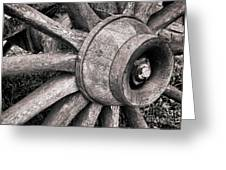 Spokes And Axle Greeting Card by Olivier Le Queinec