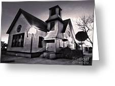 Spooky Chino Church - 01 Greeting Card by Gregory Dyer