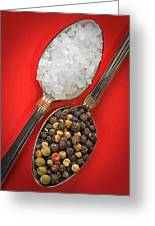 Spoonfuls Of Salt And Pepper Greeting Card by Susan Candelario