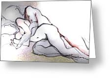 Spooning - Couples in Love Greeting Card by Carolyn Weltman